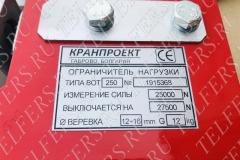 Ограничитель грузоподъемности ВОТ 250 КРАНПРОЕКТ (2/1 - 5,0 т., 4/1 - 10,0 т.)