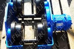 Тележка передвижения тельфера, серия ЕК160 грузоподъемностью 5,0 т. в сборе с электродвигателем КК 1407-6