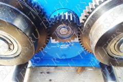 Блок-шестерня с приводными (ходовыми) колесами тележки передвижения тельфера серия ЕК160 грузоподъемностью 5,0 т.