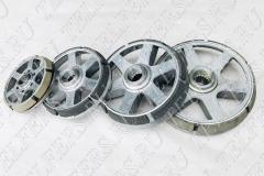 Тормозное колесо (вентилятор) электродвигателя подъема КГ 0,5-8,0 т.