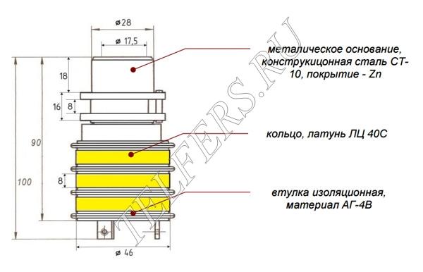 Коллектор кольцевой ТК 1-3 (для электрической тали серии ТЭ грузоподъемностью 1-2 тонны, тип 1)