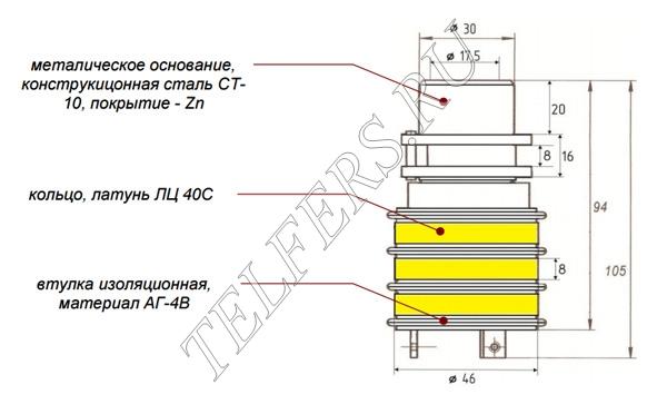 Коллектор кольцевой ТК 1-3 (для электрической тали серии ТЭ грузоподъемностью 1-2 тонны, тип 2)