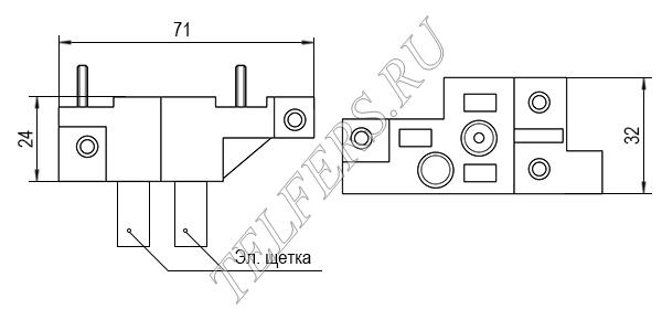 Щеткодержатель для электрической тали серии ТЭ-050 грузоподъемностью 0,5 тонн (завод Красный металлист)