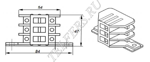 Щеткодержатель (тип 2) для тали серии ТЭ грузоподъемностью 1-2 тонны