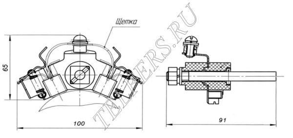 Щеткодержатель для тали серии ТЭ грузоподъемностью 3,2-12,5 тонн