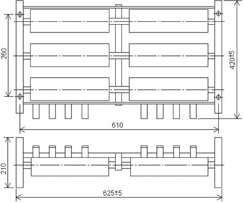 Размеры блока резисторов Б6