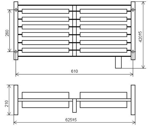 Размеры блока резисторов БК12