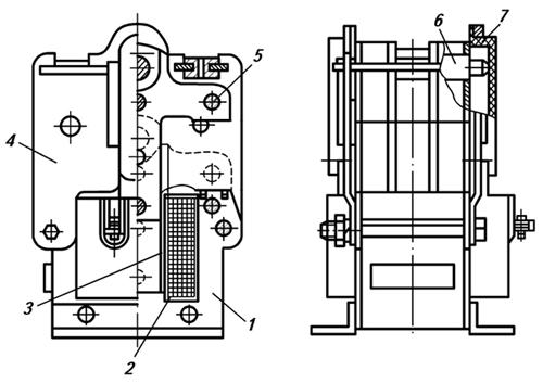 Конструкция и принцип действия электромагнита ЭМ33 со степенью защиты IP00