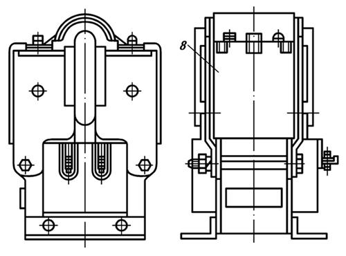 Конструкция и принцип действия электромагнита ЭМ33 со степенью защиты IP20
