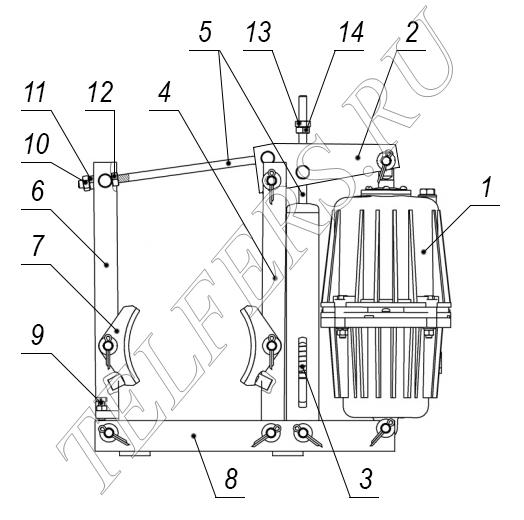 Конструкция тормоза ТКГ