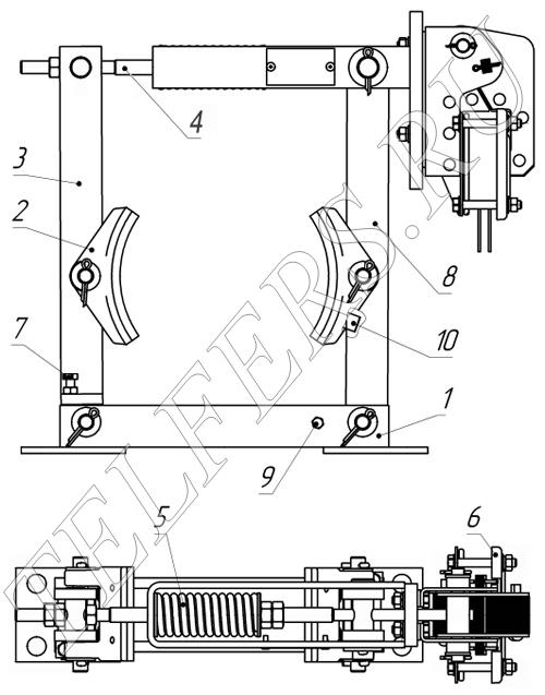 Конструкция тормоза ТКТ