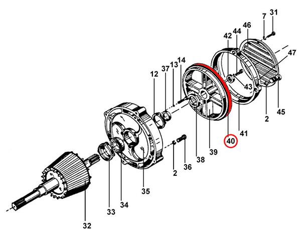 Тормозная накладка электродвигателя подъема тельфера