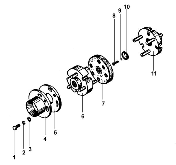 Муфта упругая в сборе для тельфера серии Т
