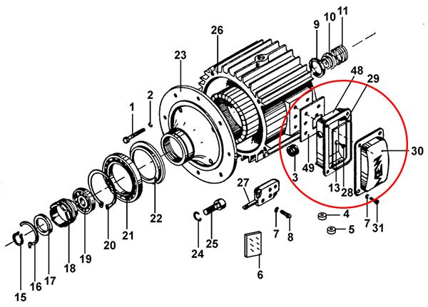 """Клеммная коробка электродвигателя подъема КГ исполнение """"Д"""""""