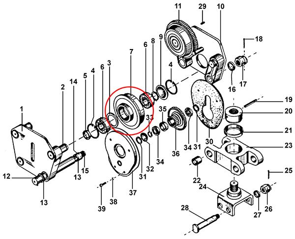 Колесо ходовое ведомое тележки передвижения
