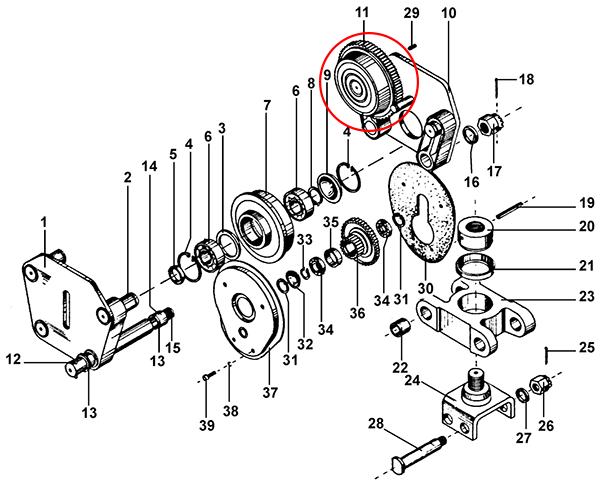 Колесо ходовое ведущее тележки передвижения