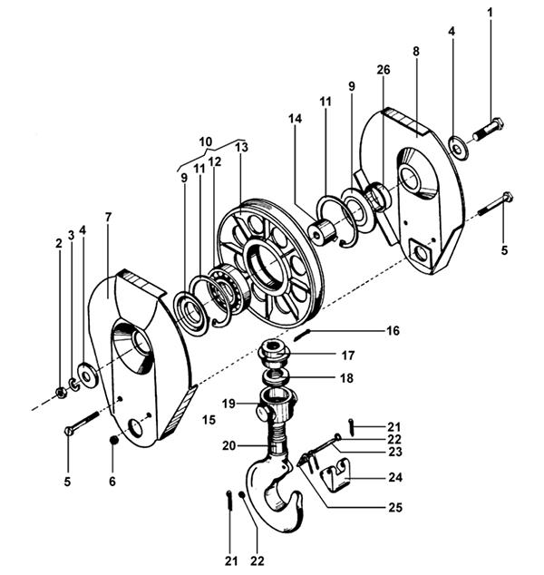 Крюковая подвеска тельфера