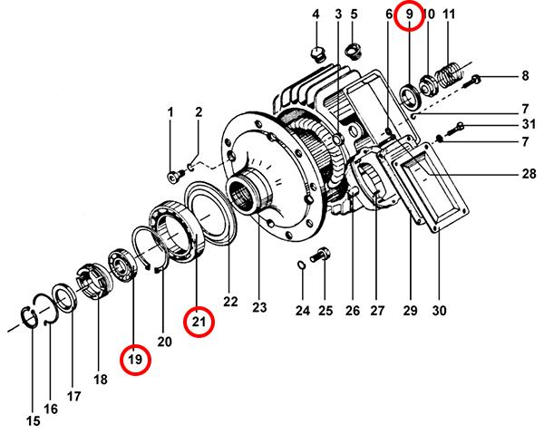 Подшипники электродвигателя подъема