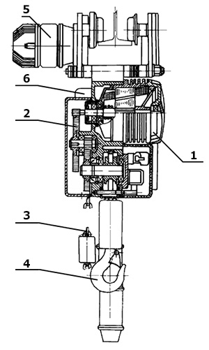 Конструкция цепного тельфера серии BE