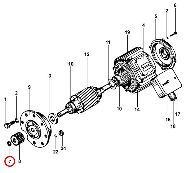 Стопорные кольца электродвигателя передвижения тельфера