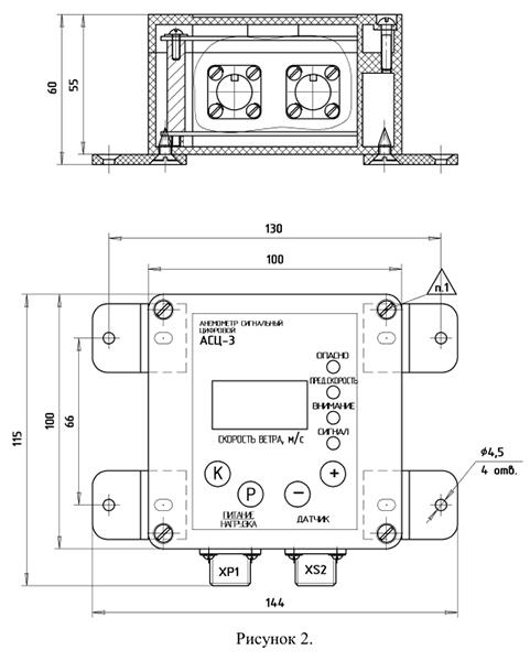 Блок контроля анемометра АСЦ-3