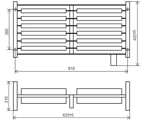 Блок резисторов ЯС-3 - габаритно-присоединительные размеры
