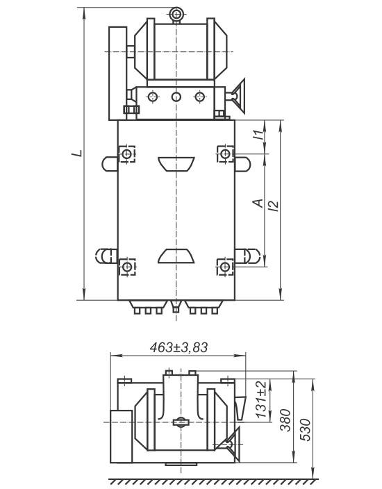 Командоаппарат КА4200 - габаритно-присоединительные размеры