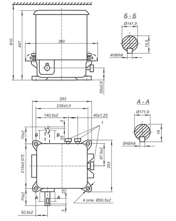 Командоаппарат КА4650 - габаритно-присоединительные размеры
