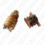 Коллектор в сборе для тали грузоподъемностью 1-2 т. (блок контактных колец 28мм + щеткодержатель тип 2) Артикул: ТК-ТЭ-100-28-2-001