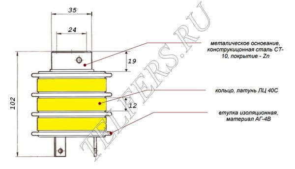 Коллектор кольцевой ТК 3-5 (для электрической тали серии ТЭ грузоподъемностью 3,2-12,5 тонн)