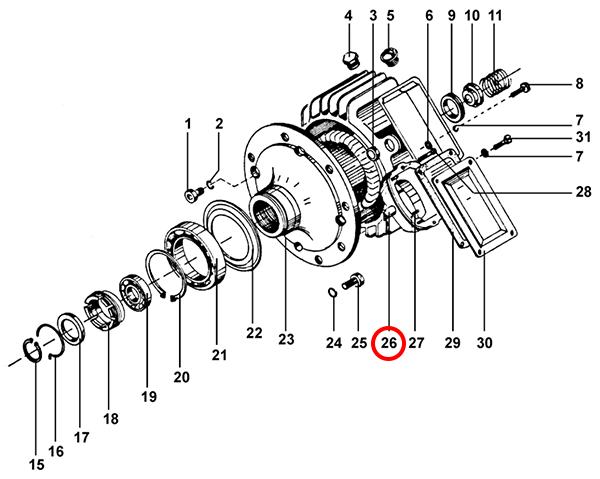 Статор электродвигателя подъема тельфера