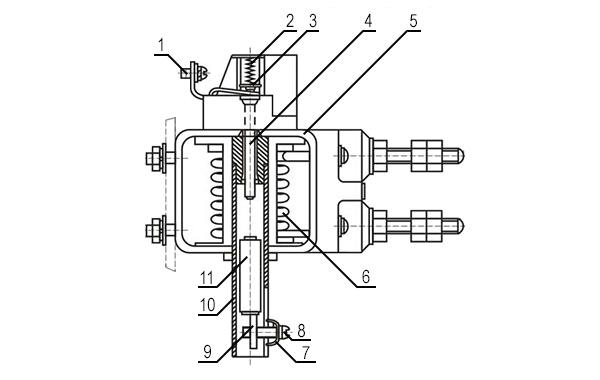 Конструкция реле РЭО-401 2ТД (с блок-контактом)