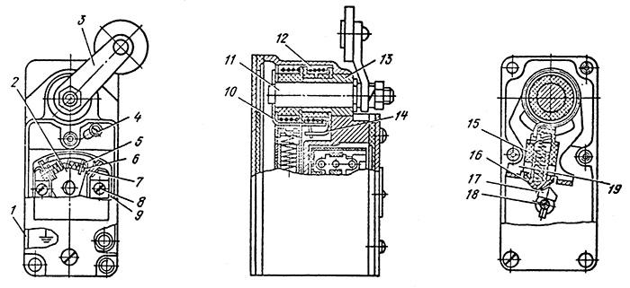 Конструкция выключателей ВП16