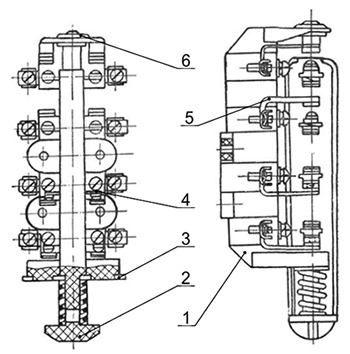 Рис.4 - Блок-контакт контактора КТ