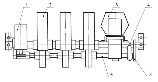 Рис.1 - Условное изображение трехполюсногоконтактора КТ