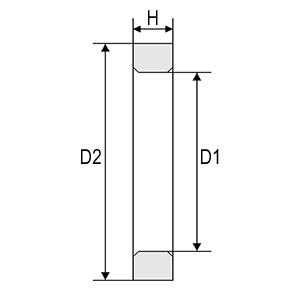 Габаритно-присоединительные размеры контактных колец для электродвигателей MTF, MTH